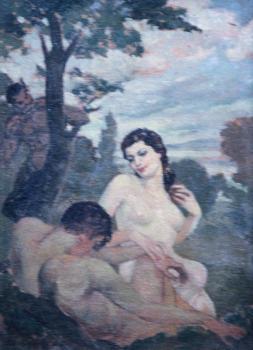 Oil framed 16x13
