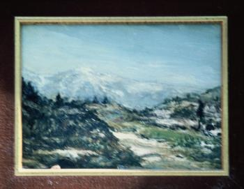 Oil framed 11x13 circa 1934