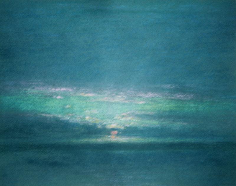 Pastel framed 16x18 1962