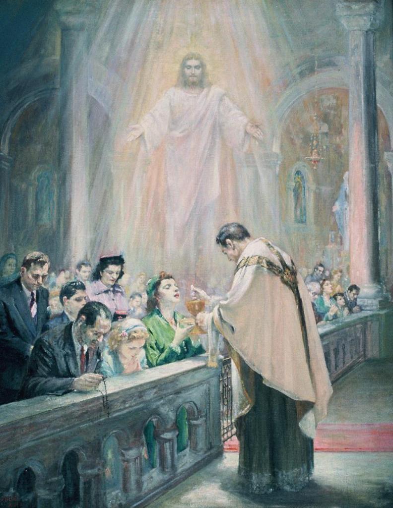 Oil framed 26x33 1958 (St. Bernard's Church)