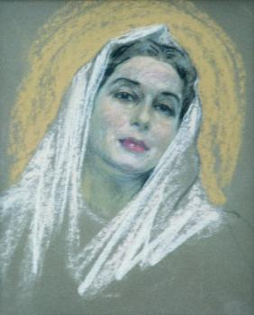 Pastel framed 19x16 1957