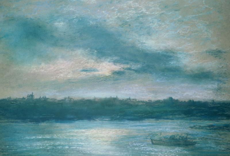 pastel framed 17x15 1929