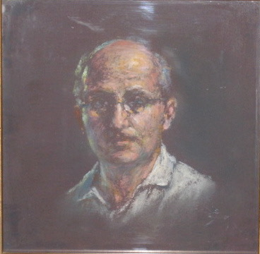 Ariel Agemian Self Portrait Pastel 8x8 Oct 1963