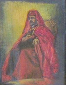 Cardinal G. Agagianian Pastel framed 16x13 1961