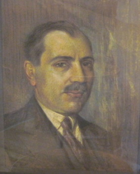 Armenian Man unknown Pastel framed 21x17 1954