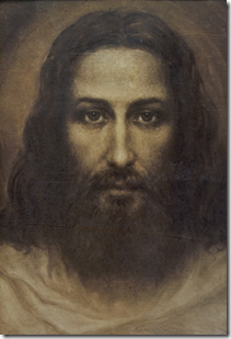 """face of Christ"" based on the Shroud of Turin 1935"